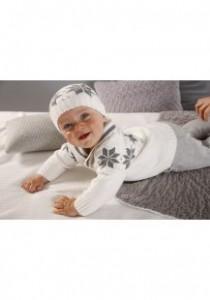 шапочка и кофточка для малыша