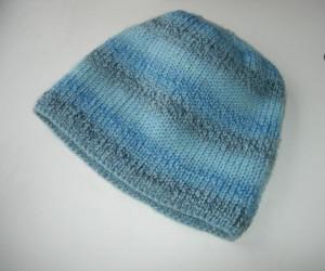 мужская шапка связанная двойной резинкой