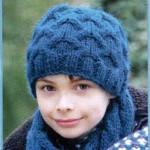 Шапка и шарф связанные аранами