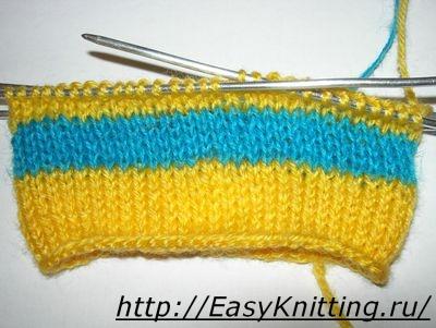 Как менять нить при вязании спицами в начале, в середине и по кругу