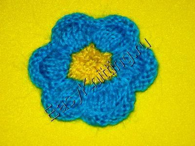 вязания спицами цветов,