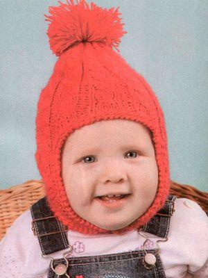 Детская шапочка со жгутами