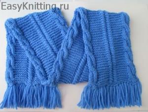 Детский двухсторонний шарф