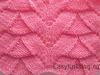 Красивый узор спицами для свитера