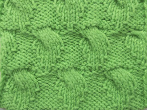 Узор спицами Зеленые листики