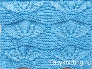 голубой ажурный узор для туники