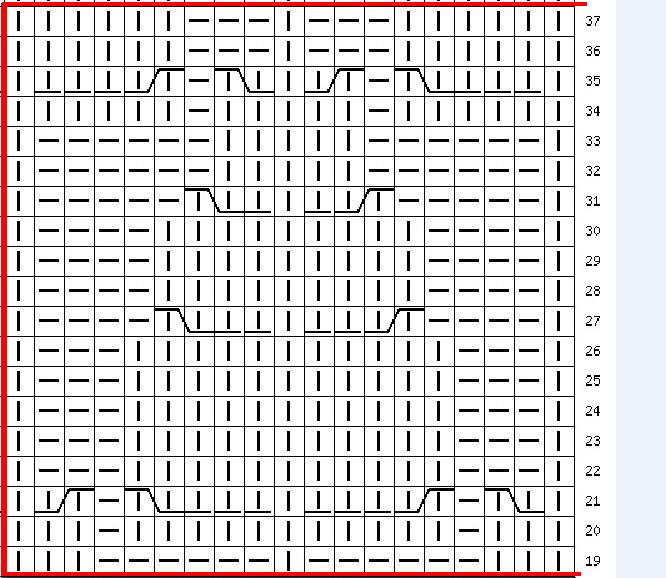 фрагмент схемы для вязания