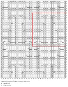 Схема узора Дубовые листья