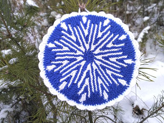 прихватка-снежинка
